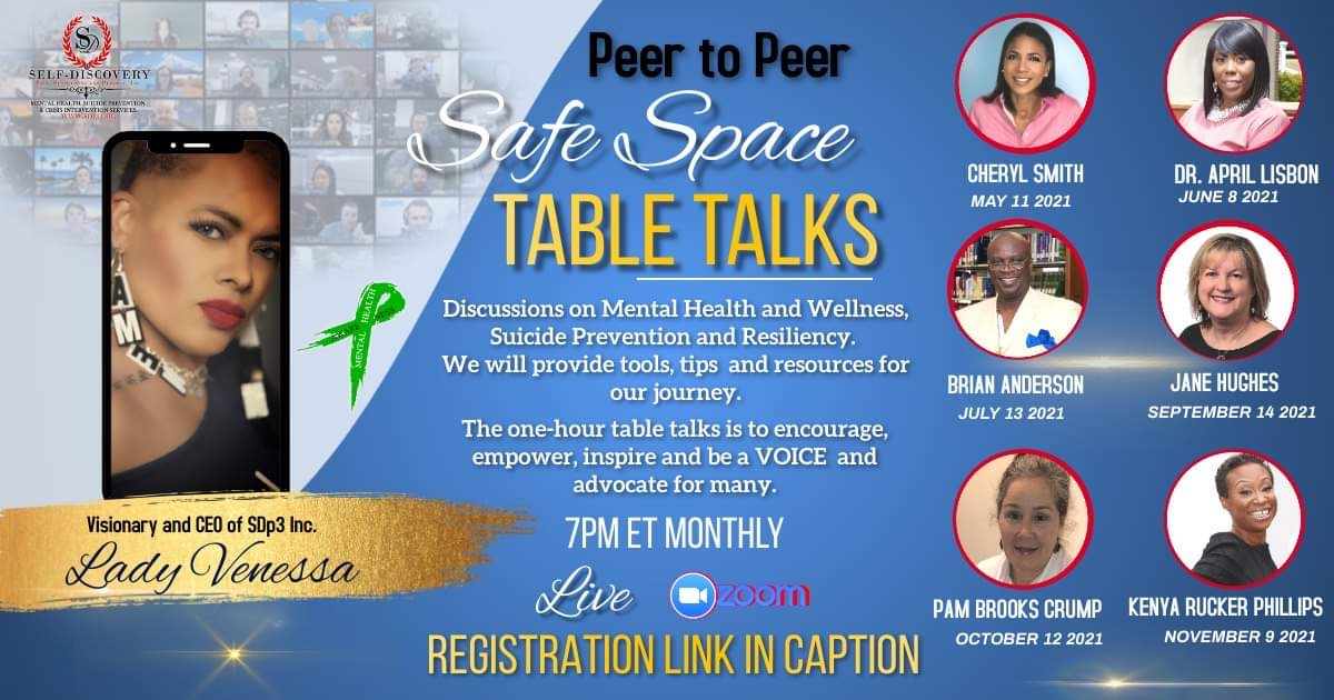 Peer to peer safe space table talks