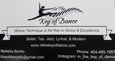 key of dance