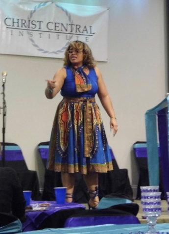 woman giving a speech