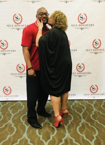 woman kissing the man