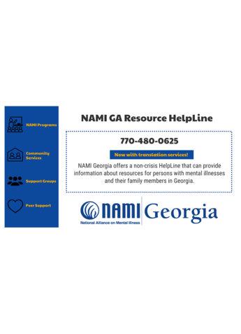 NAMI GA resource Helpline