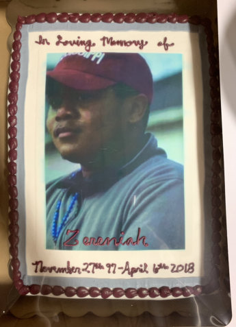 cake with picture on it