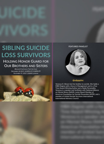 sibling suicide loss survivors cover
